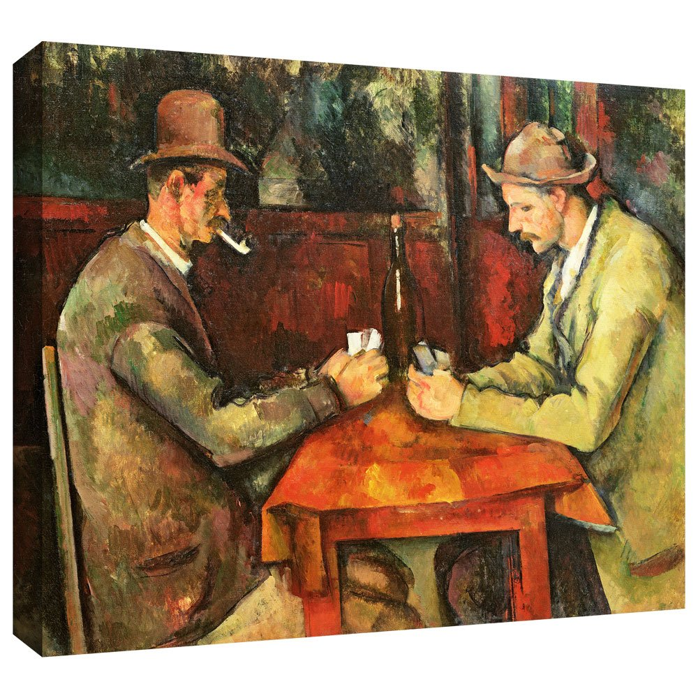 ArtWall Paul Cezanne The Card Players Gallery-Wrapped Canvas 18 by 24-Inch