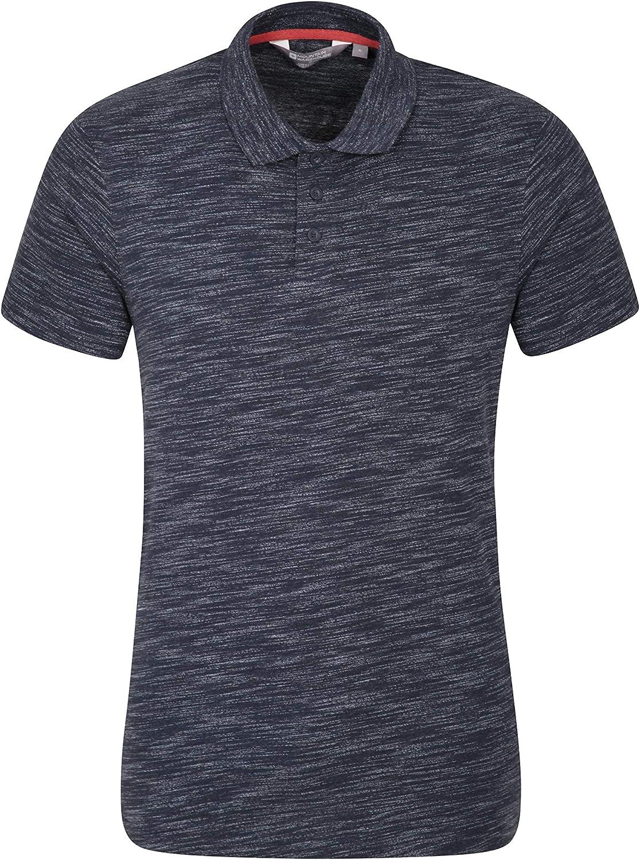 Mountain Warehouse Polo Hasst para Hombre - Camiseta de Verano Ligera y Transpirable - Fácil Cuidado - Manga Corta - para Senderismo, Viajes y Actividades al Aire Libre