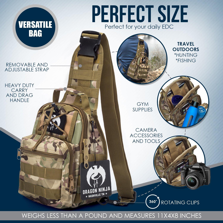 Dragon Ninja Sling Bag para Hombres y Mujeres Mejor táctico ...