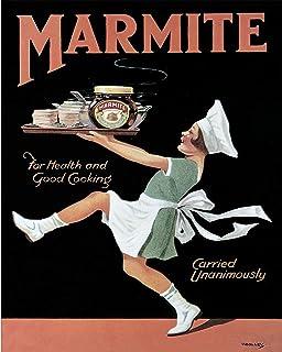 Vintage Retro Food Kellogg Marmite Quote Kitchen Advert Poster Stainless Steel