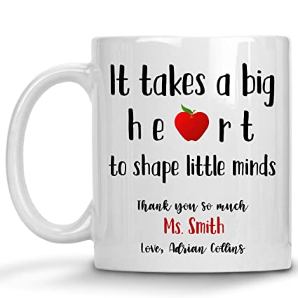 Personalized Teacher Appreciation Gifts For Women - Funny Thank You  Graduation Great Best Teaching Assistant Coffee Mug Cup Substitute Retired  Future