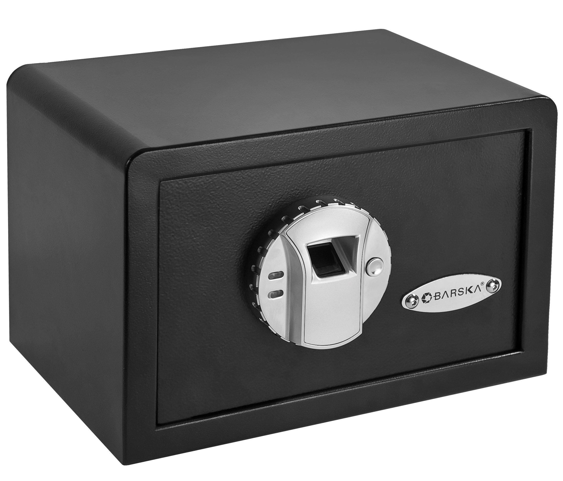 BARSKA AX11620 Biometric Fingerprint Mini Security Home Safe Box 0.29 Cubic Ft by BARSKA