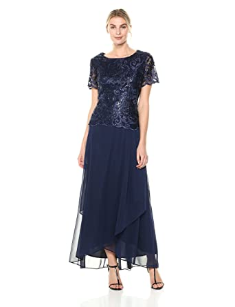 ddd169b8da549 Amazon.com: Alex Evenings Women's Embroidered Mock Dress with Wrap Skirt:  Clothing