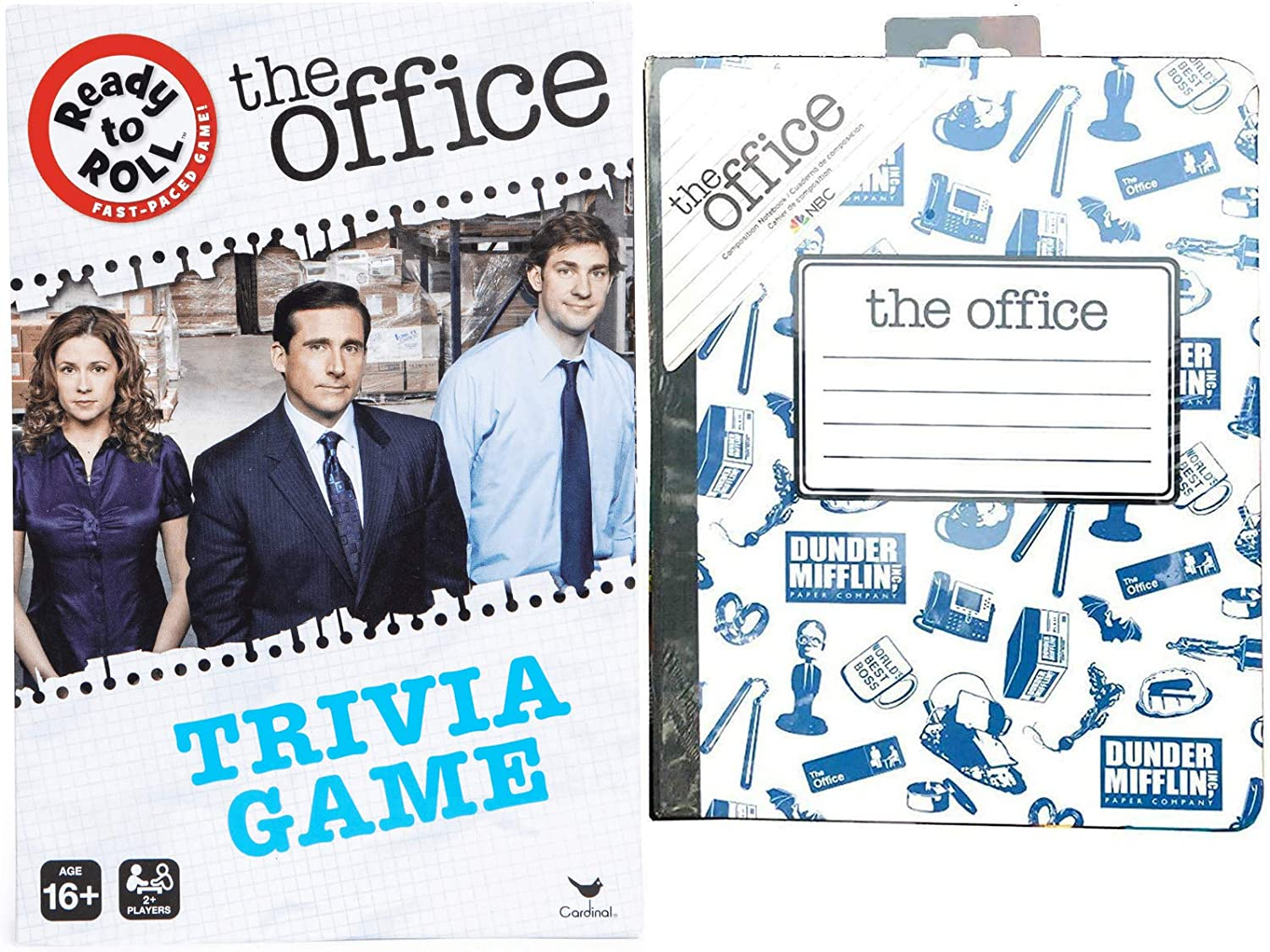 Score! Paper Trivia Bundled with NBC Dunder-Mifflin Game + The Office Series Notebook 2 Items