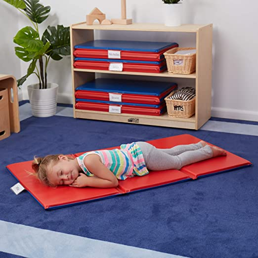 Amazon.com: Alfombra para descansar plegable ECR4Kids., Azul ...