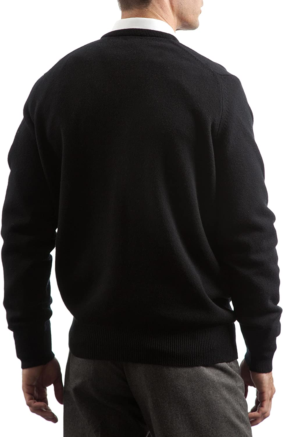 Made in Scotland Great /& British Knitwear Mens HM100 100/% Lambswool Plain V Neck Jumper