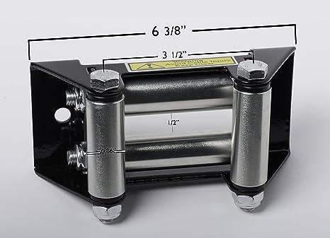 Cabrestante rodillo Fairlead por Alfa ruedas – Auto/ATV Winch para reducir la fricción y