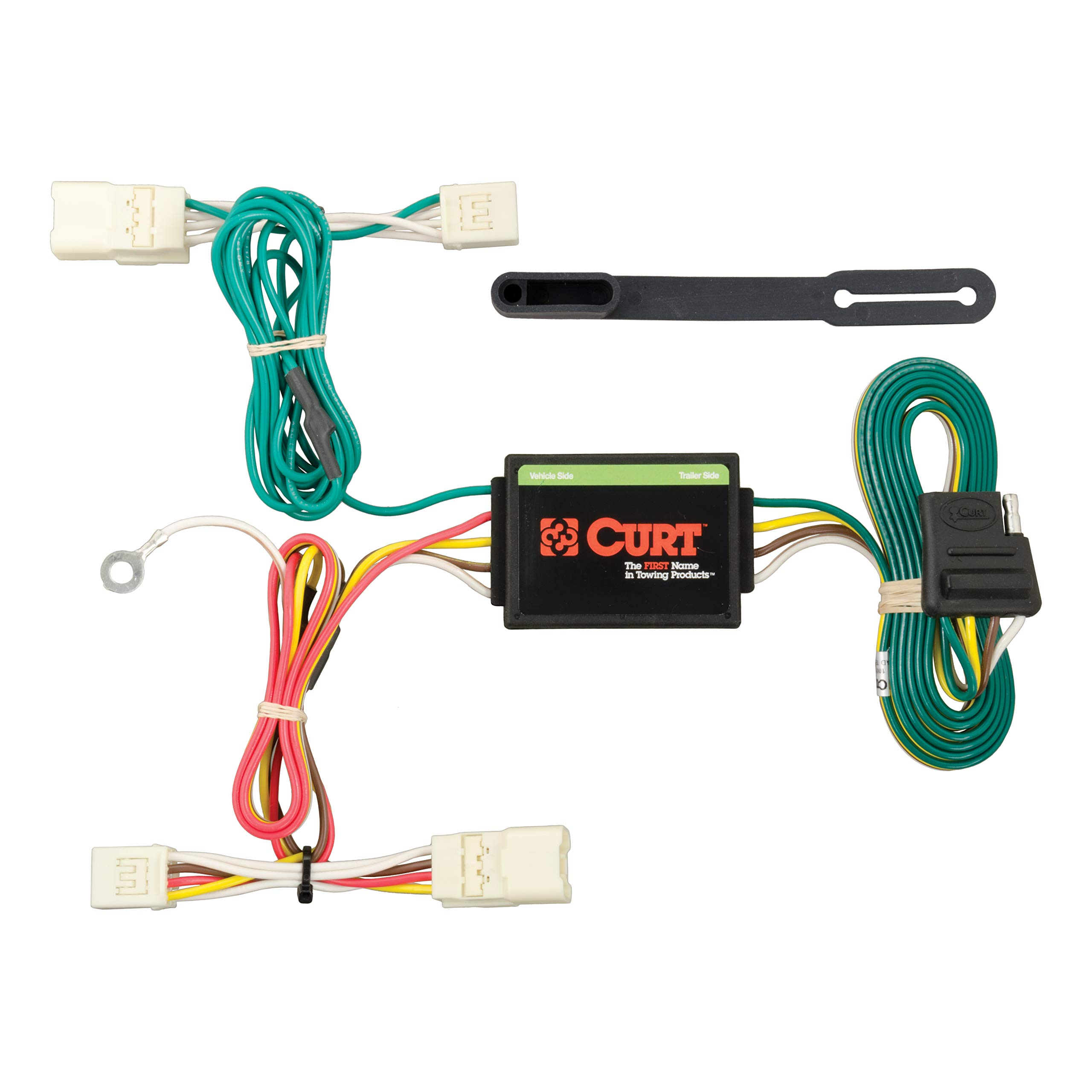 CURT 56223 Vehicle-Side Custom 4-Pin Trailer Wiring Harness for Select Mitsubishi Mirage by CURT
