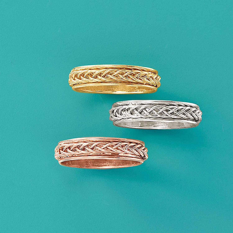 Ross-Simons 14kt White Gold Small Braided Band Ring
