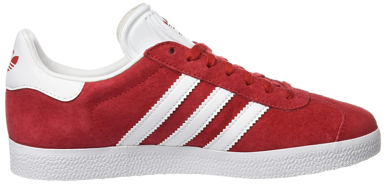 adidas Orignals Gazelle Mens Trainers Sneakers B01EI9LEFI 4.5 D(M) US|Scarle/Footwear White/Gold Metallic