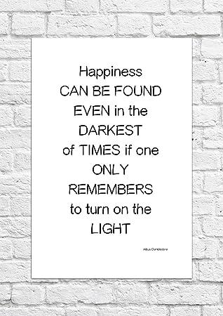 Poster Mit Zitat Von Albus Dumbledore Aus Harry Potter Ungerahmt