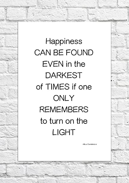 Albus Dumbledore Harry Potter Happiness Can Quote Poster Art Unframed Print