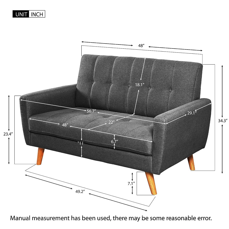 Amazon.com: Harper & Bright Designs Juego de sofá para sala ...