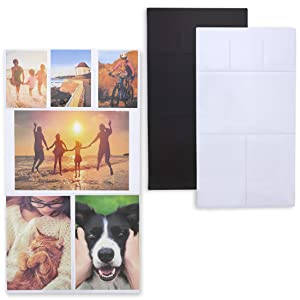 Juvale 3-Pack Magnetic Photo Picture Collage Frame for Refrigerator, 15 x 8.3 Inches
