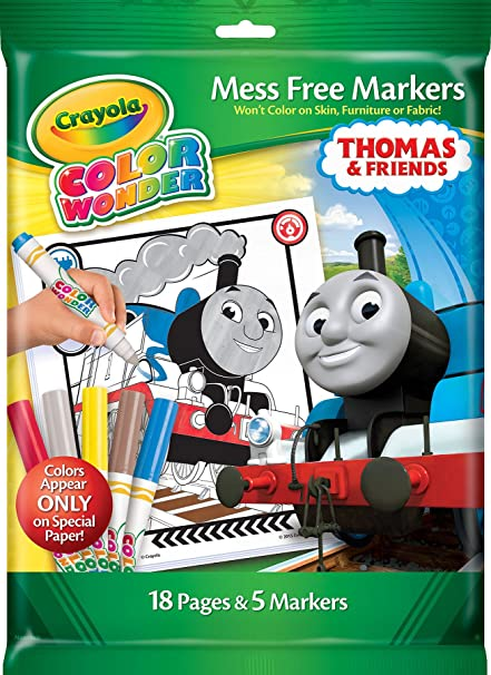Crayola Thomas Friends Color Wonder Mess Free Coloring Pages Markers