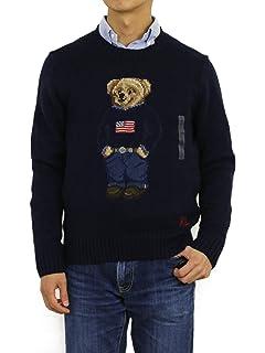 d877637b6daf8 Polo Ralph Lauren Mens Ski Bear Wool Camel Blend Crewneck Sweater at ...