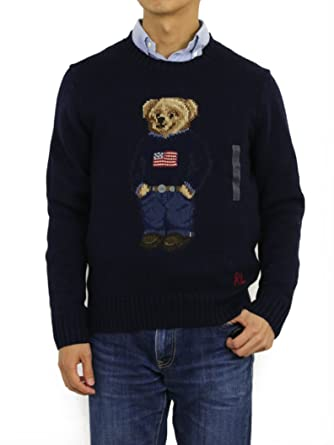 16ff7616fdc3 Polo Ralph Lauren Men s Polo Bear Cable Knit Sweater at Amazon Men s  Clothing store