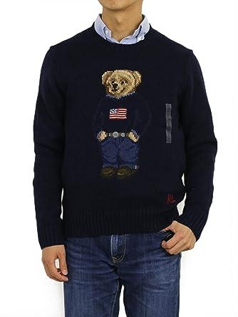 64c80a3c3d7c7 Polo Ralph Lauren Men s Polo Bear Cable Knit Sweater at Amazon Men s  Clothing store
