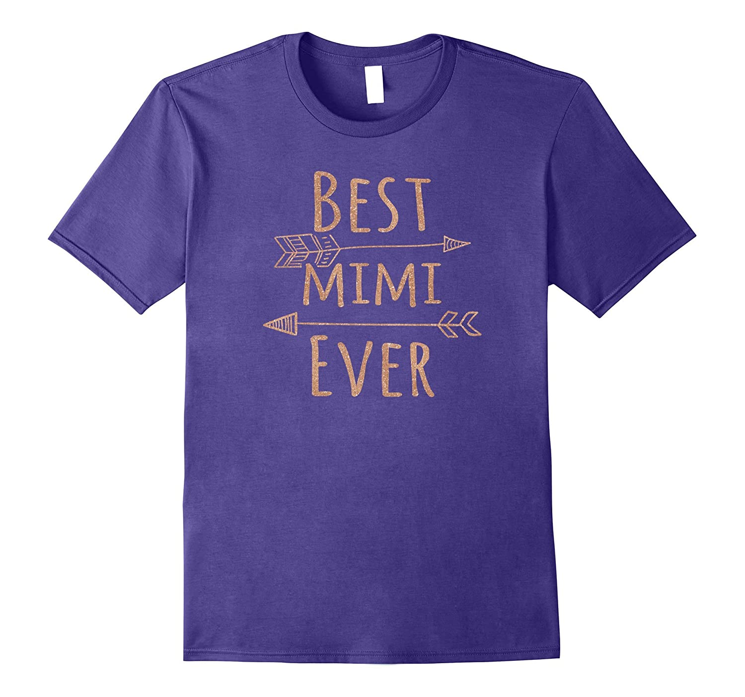 Best Mimi Ever T-Shirt for Grandmothers (Rose Gold)-FL