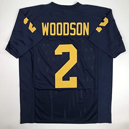 c0b5ed9b392 Unsigned Charles Woodson Michigan Blue Custom Stitched College Football  Jersey Size Men's XL New No Brands