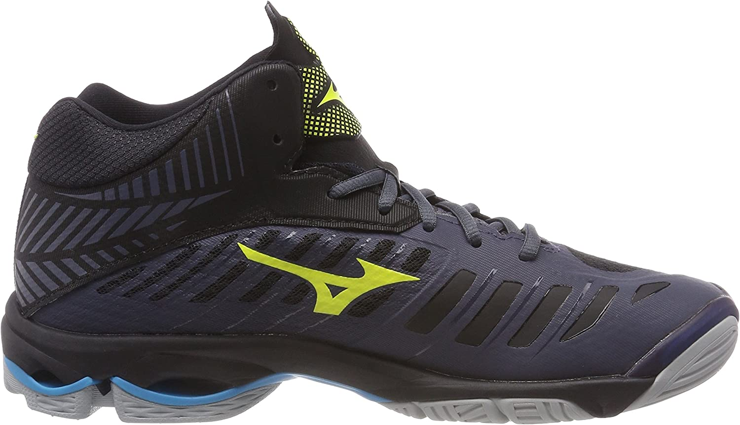 Mizuno Wave Lightning Z4mid, Sneakers Basses Homme Multicolore O Blue Syellow Hocean 001