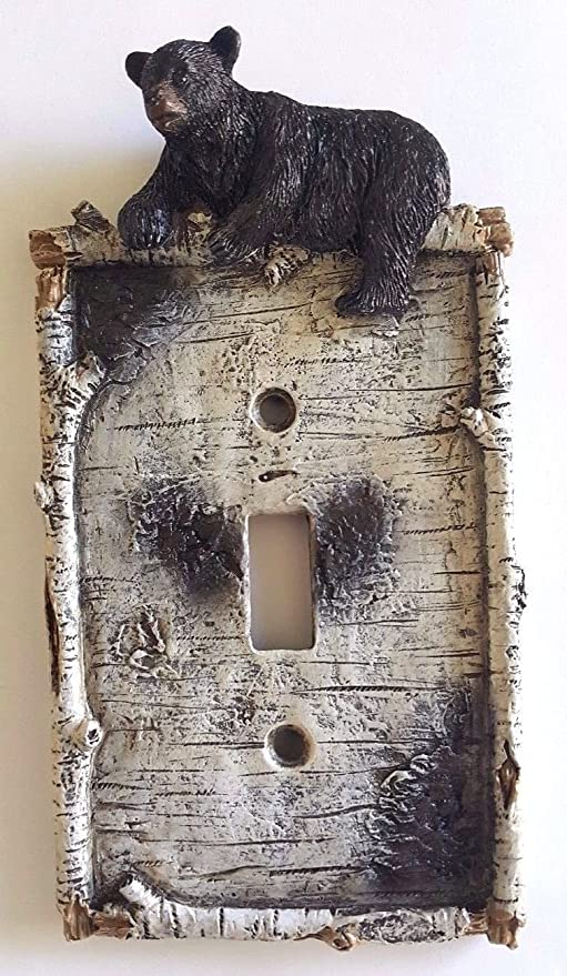 Lodge Rustic Log Cabin Home Decor Live edge Double 2 light Switch Plate Cover