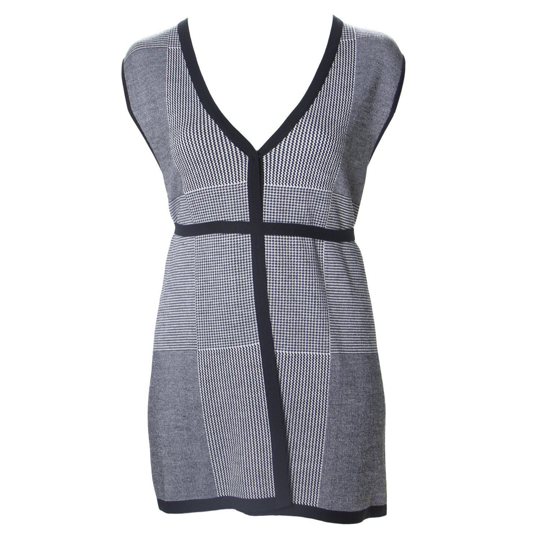 Marina Rinaldi Women's Menta Houndstooth Sweater Vest, Black, XX-Large