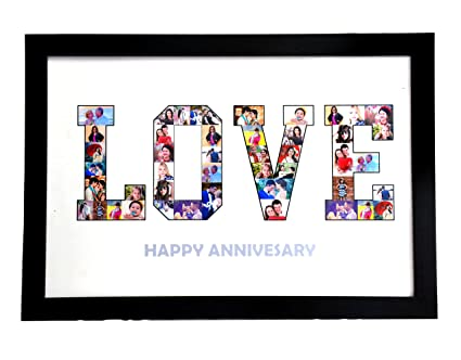 Buy 18in X 12in PERSONALIZED PHOTO NAME COLLAGE LETTER COLLAGE ...