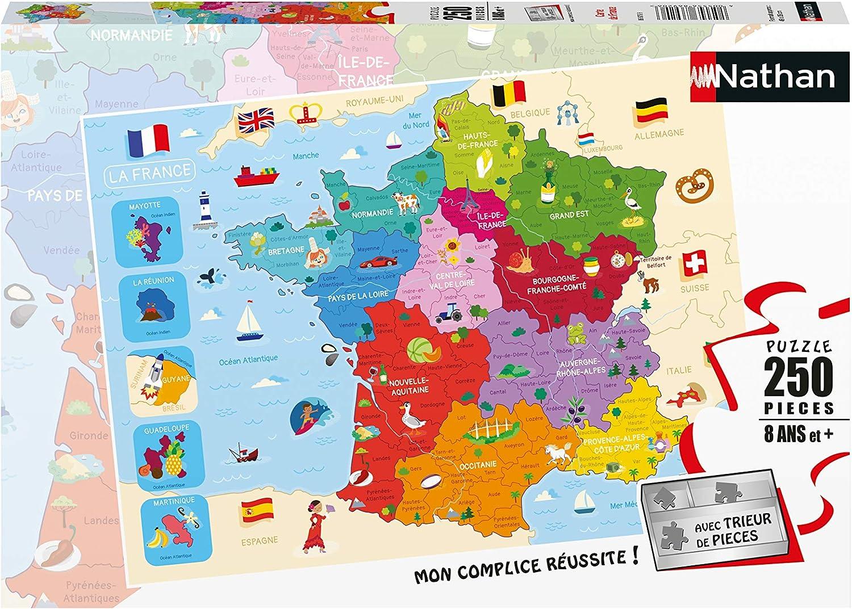 Ravensburger Puzzle 250 p Mapa de Francia: Amazon.es: Juguetes y juegos