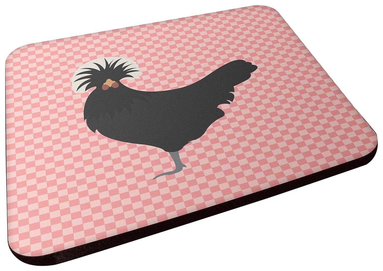 Carolines Treasures BB7834FC Polish Poland Chicken Pink Check Decorative coasters 3.5 Multicolor