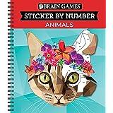 Brain Games - Sticker by Number: Animals (28 Images to Sticker)
