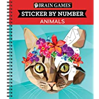 Brain Games® Sticker by Number: Animals
