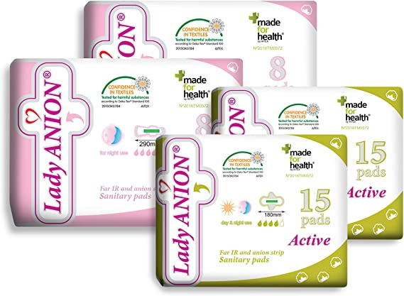 Lady Anion set menstrual para tu período no abundante/moderado, algodón orgánico certificado - juego de 2 tipos en 1 I Compresas algodon: Amazon.es: Salud y cuidado personal