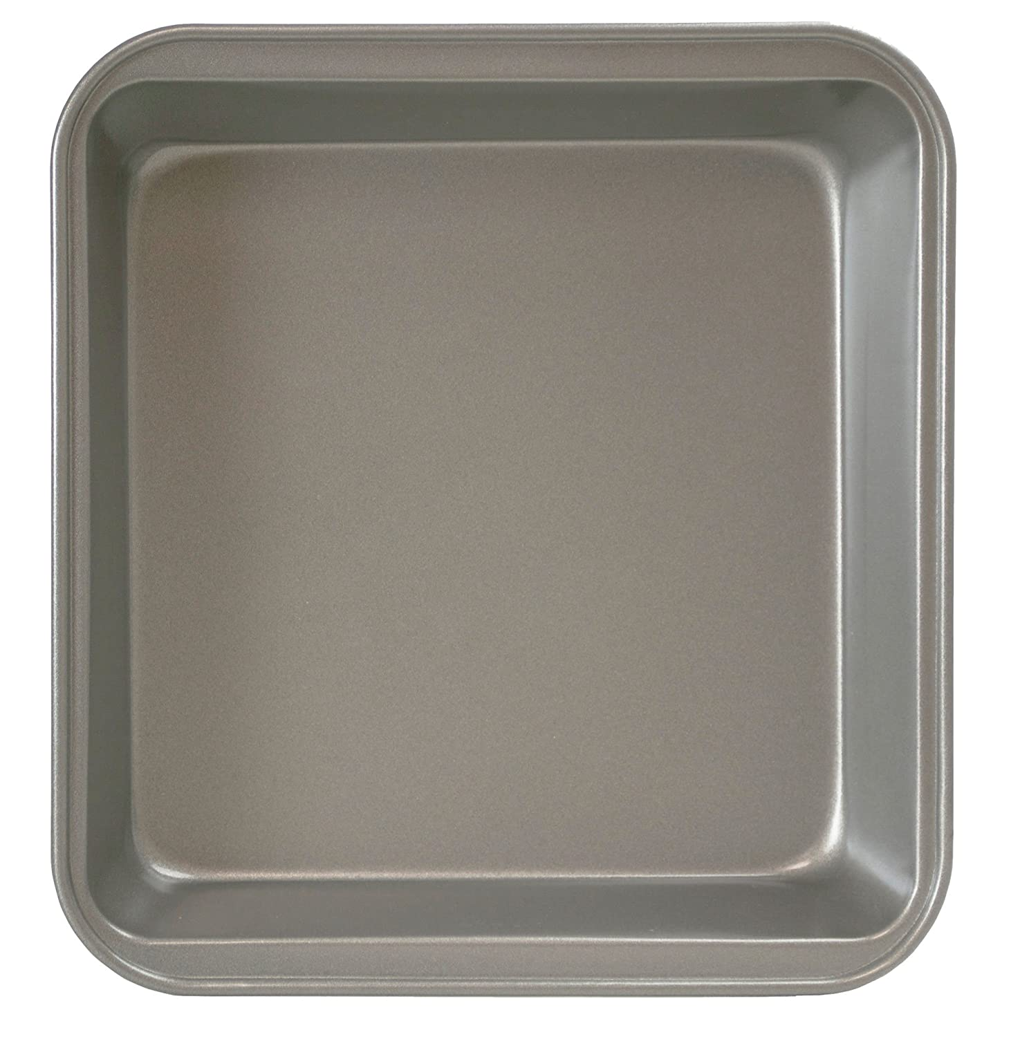 "Ecolution Bakeins Square Cake Baking Pan – PFOA, BPA, and PTFE Free Non-Stick Coating – Heavy Duty Carbon Steel – Dishwasher Safe – Gray – 9"" x 9"" x 2"""