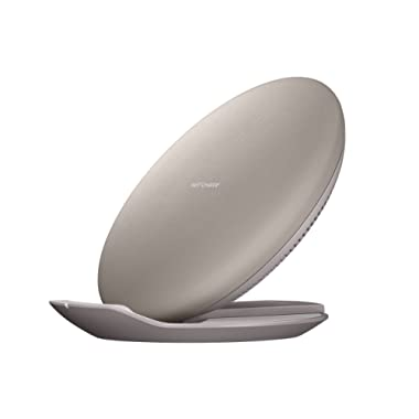 Samsung Qi Certified Fast Charge Wireless Charging Convertible Stand/Pad - US Version - Tan