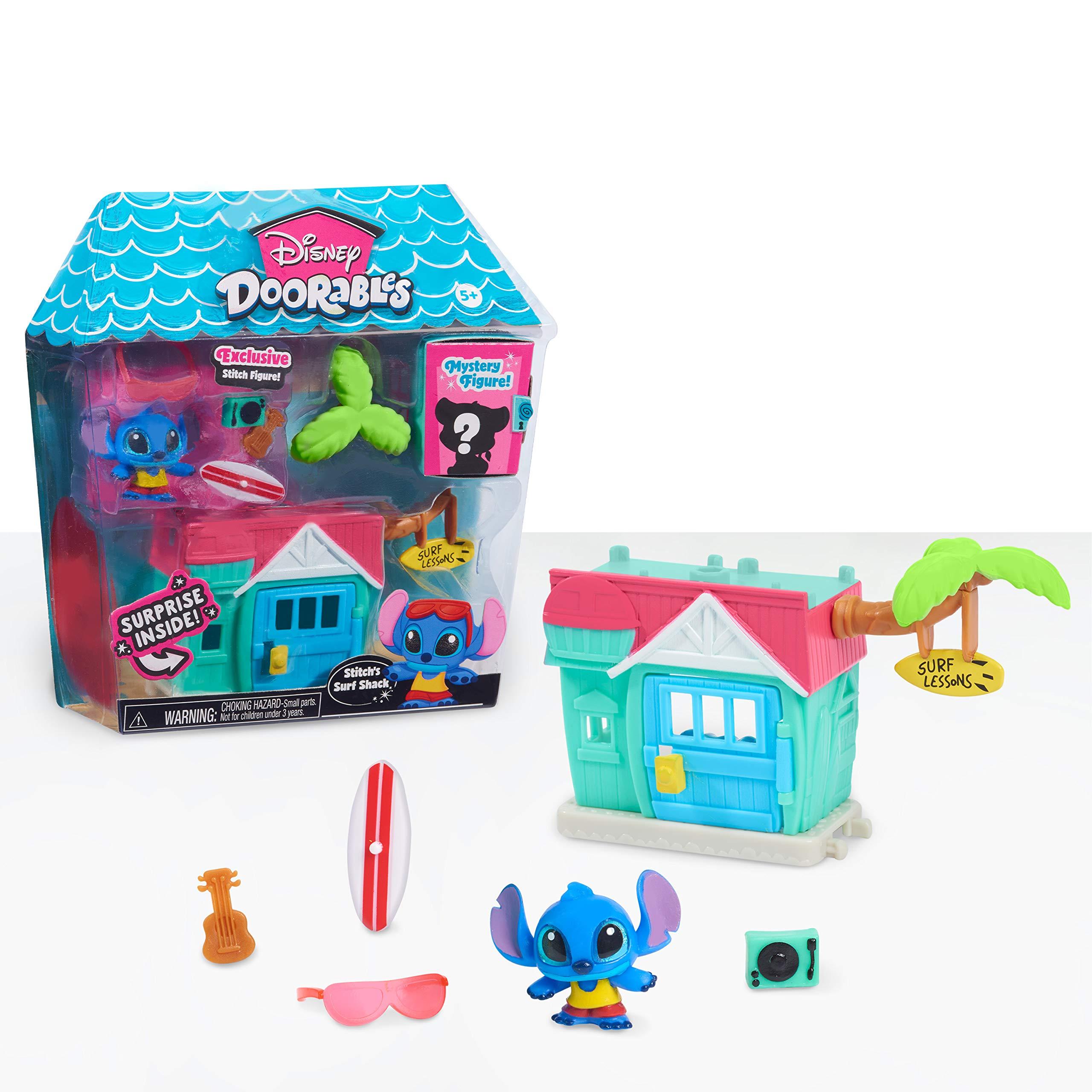 Disney Doorables Mini Playset Stitch's Surf Shack, Multi-Color