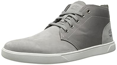 Timberland Men's Groveton Leather Fabric Chukka Boot, Grey Nubuck/Canvas,  ...