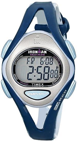 Timex Mujer T5K451 Ironman Sleek 50-Lap Blue Resin Strap Reloj: Timex: Amazon.es: Relojes