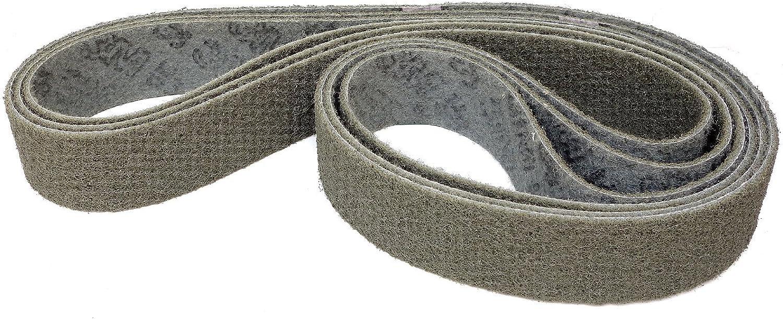 3 St/ück grob - Korn 80 K/örnung: A-crs braun 3M Scotch-Brite SC-BL Schleifband//Vliesband 50 x 1500 mm