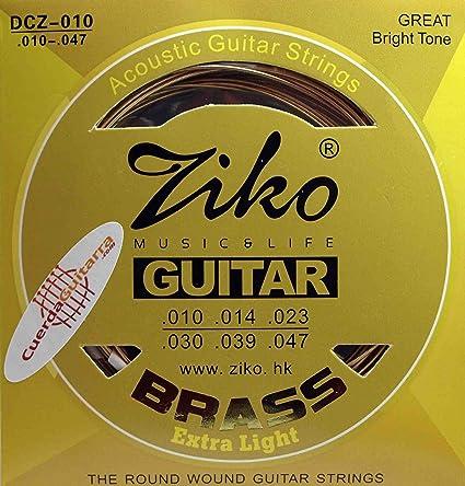 2 Juegos de cuerdas ZIKO DCZ-010 para Guitarra Acústica Bronce 80 ...