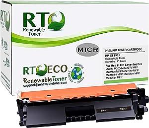 Renewable Toner Compatible MICR High Yield Toner Cartridge Replacement for HP 30X CF230X Laserjet Pro M203 M227 M230