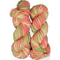 Oswal Knitting Yarn Wool, Carrot 200 gm Woolen Crochet Yarn Thread. Best Used with Knitting Needles, Crochet Needles. Vardhman Wool Yarn for Knitting. Best Woolen Thread.