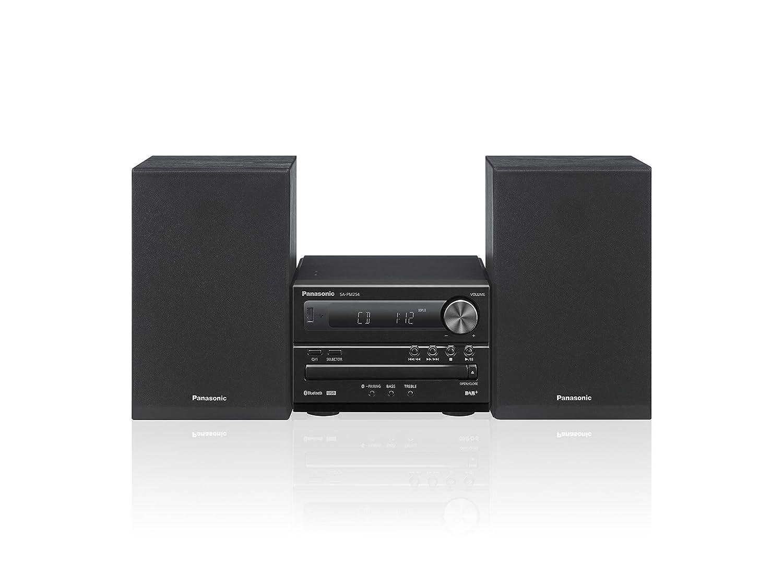 Panasonic SC-PM254EG-K Home Audio Micro System Negro Sistema de Audio para el hogar - Microcadena (Home Audio Micro System, Negro, De 1 vía, Dab+, Corriente alterna, 0,2 W)