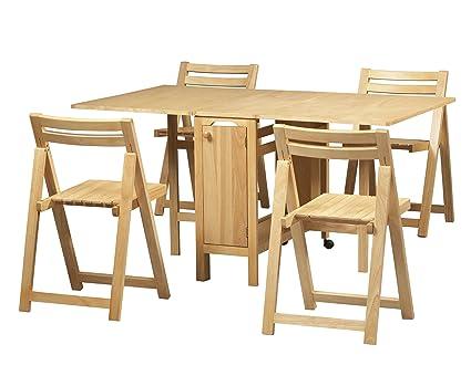 Amazon.com: Linon Space Saver Set Table: Kitchen & Dining
