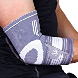 Elbow Brace Compression Support Sleeve, Liveup SPORTS Elbow Brace Compression Support Sleeve with Adjustable Elastic Bandage for Tendonitis Tennis Golf Elbow Treatment
