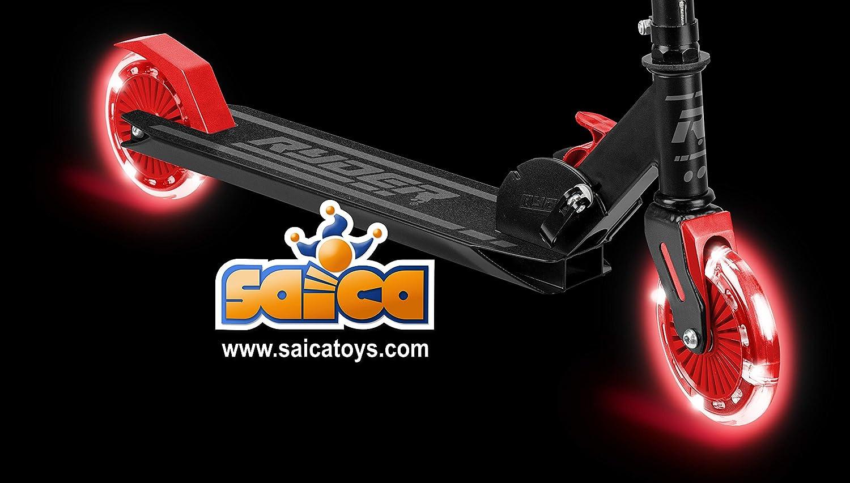 Saica Patinete 2 Ruedas Ryder Dark LED Rojo, Color Negro (1 ...