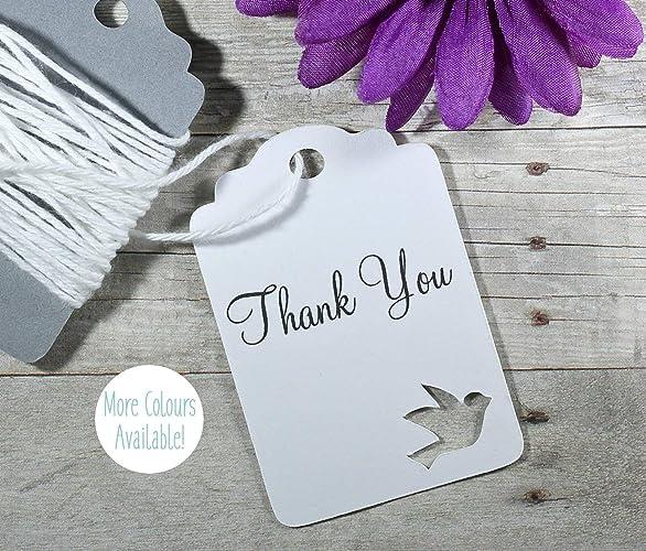Amazon White Dove Thank You Tags Wedding Favors Set Of 20