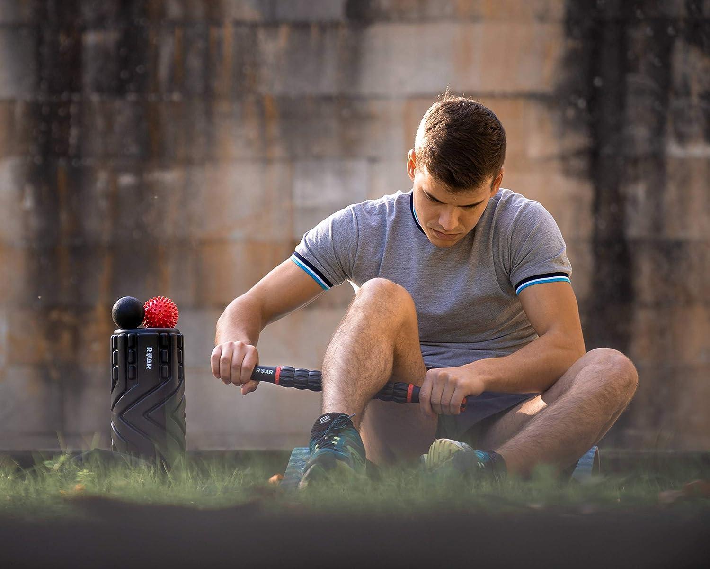 Roar® Foam Roller Masaje Kit, Rodillo Masaje Muscular Pack, Foam Roll Terapia, Roller Foam, Rulo Masaje Muscular, Rodillo Espuma Masajeador, Lacrosse ...