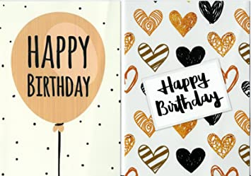 Pack Of 10 Budget Birthday Cards Modern Designs Envelopes By Greetingles Made In