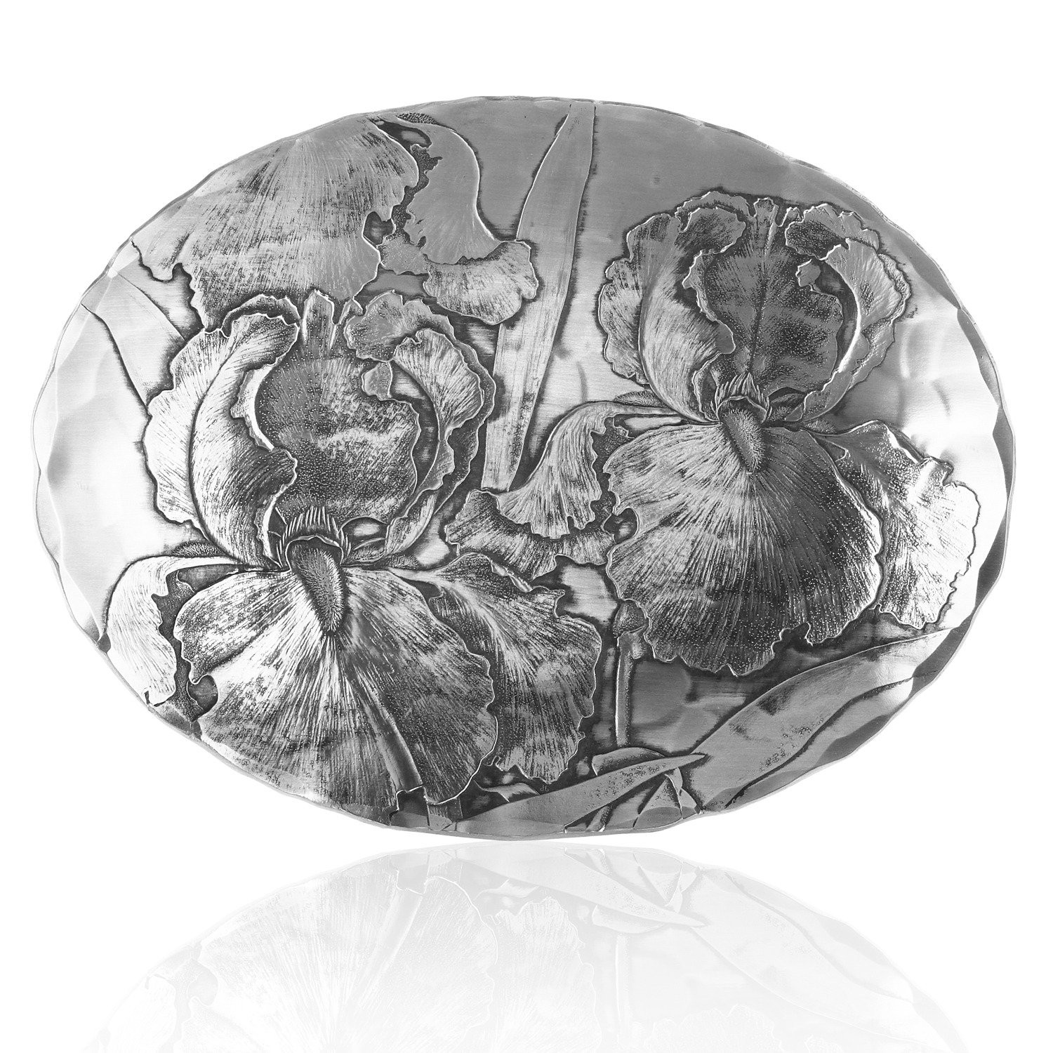 Wendell August Oval Bowl, Small, Iris